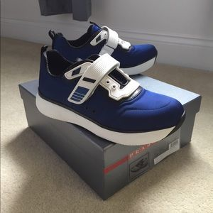 Prada Bluette Nylon Sneakers